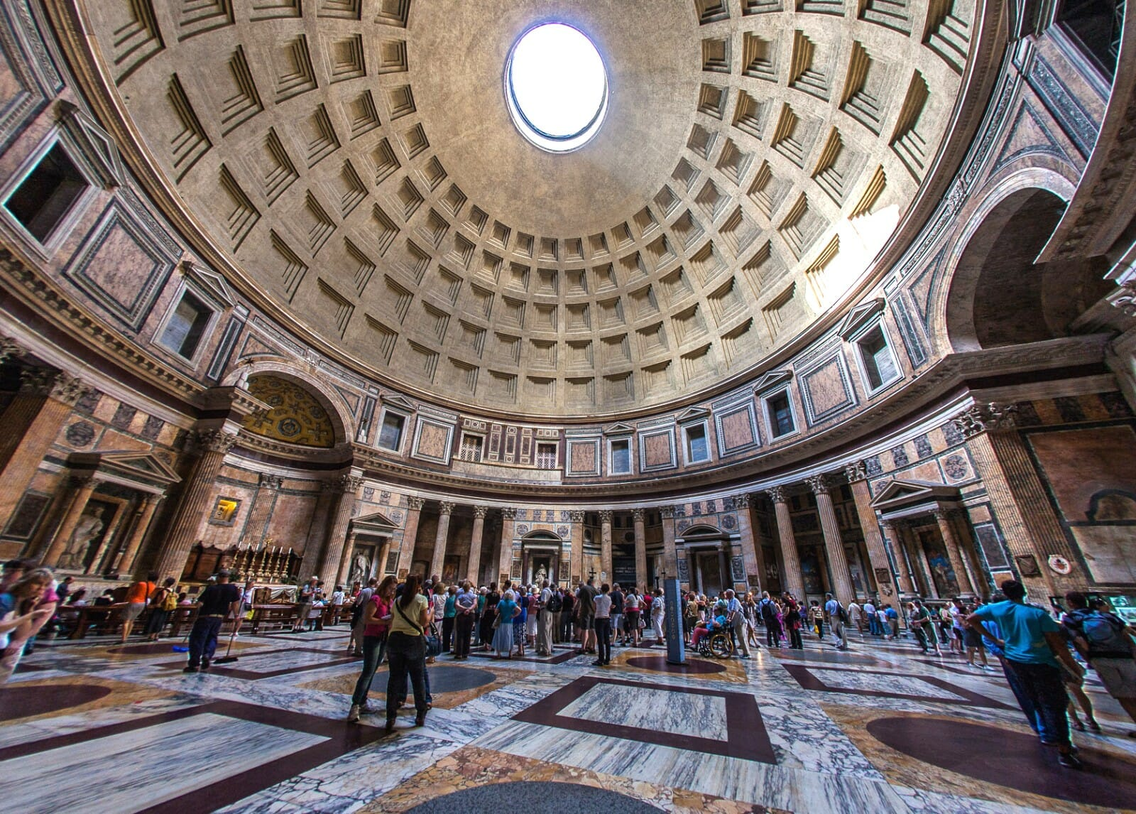 Pantheon Rome tickets celling