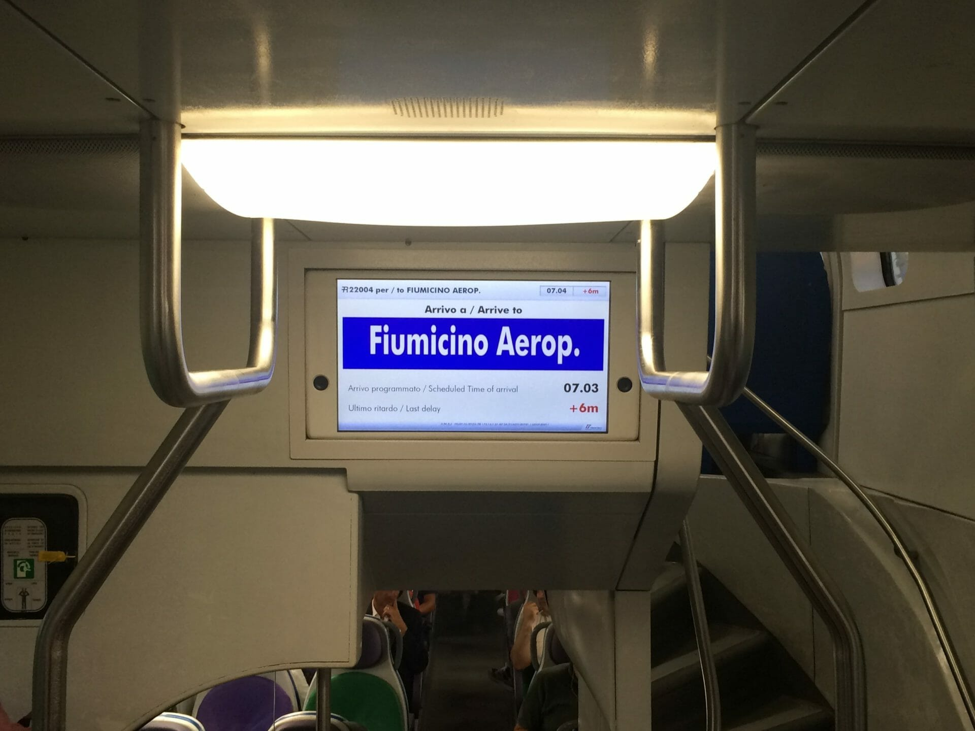 Rome international airports transport Fiuminico