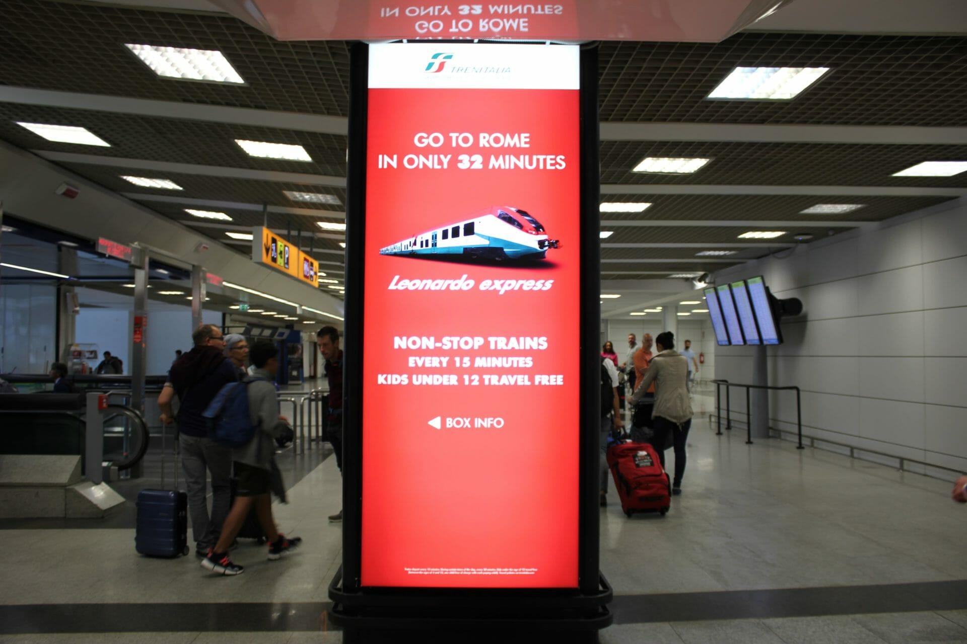Rome Airport Leonardo Express