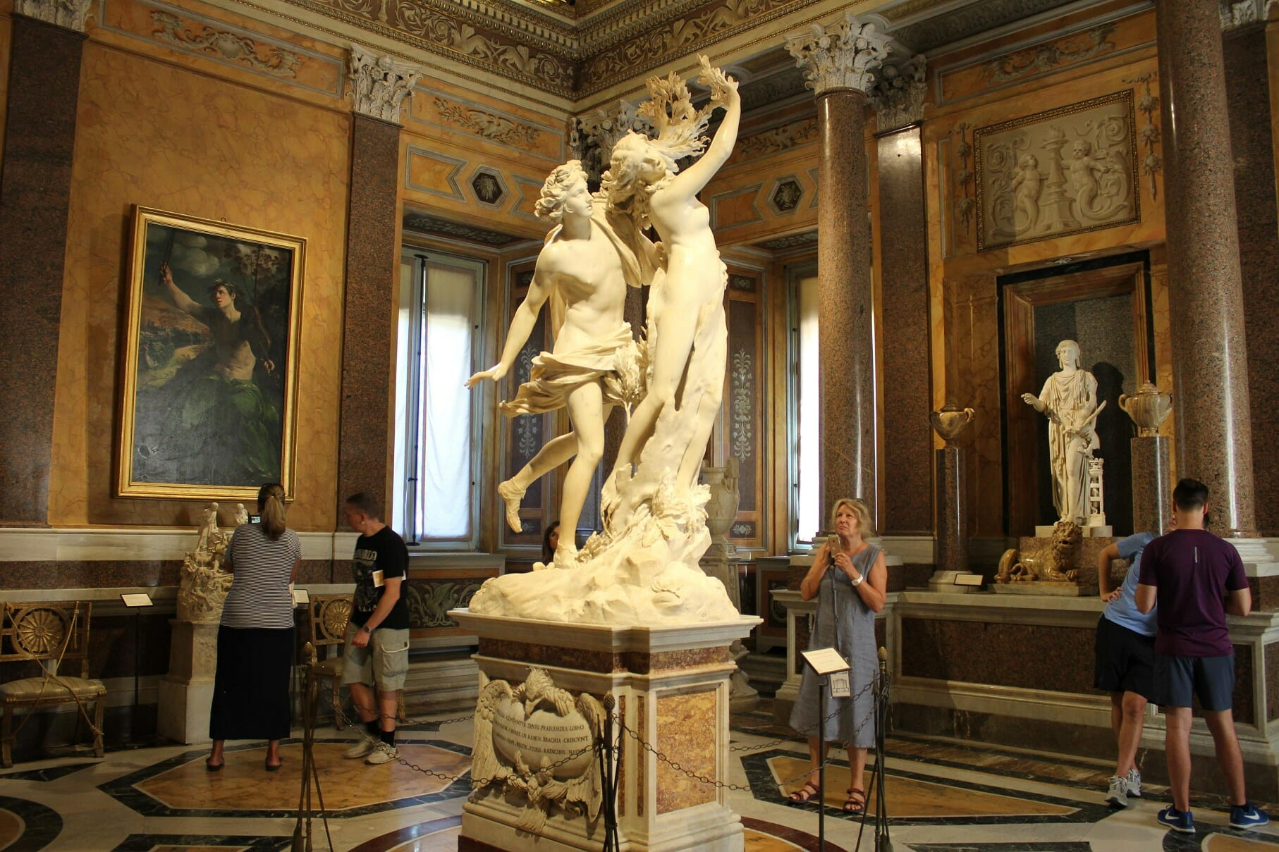 visit villa borghese sculpture