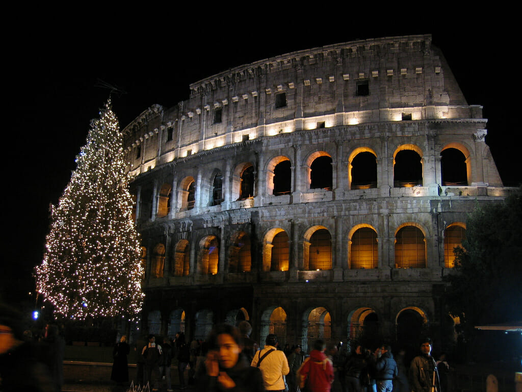 Rome Wheather Christmas Colliseum Rome