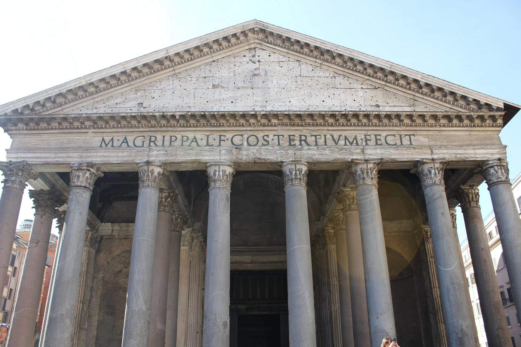 Pantheon Rome main entrance