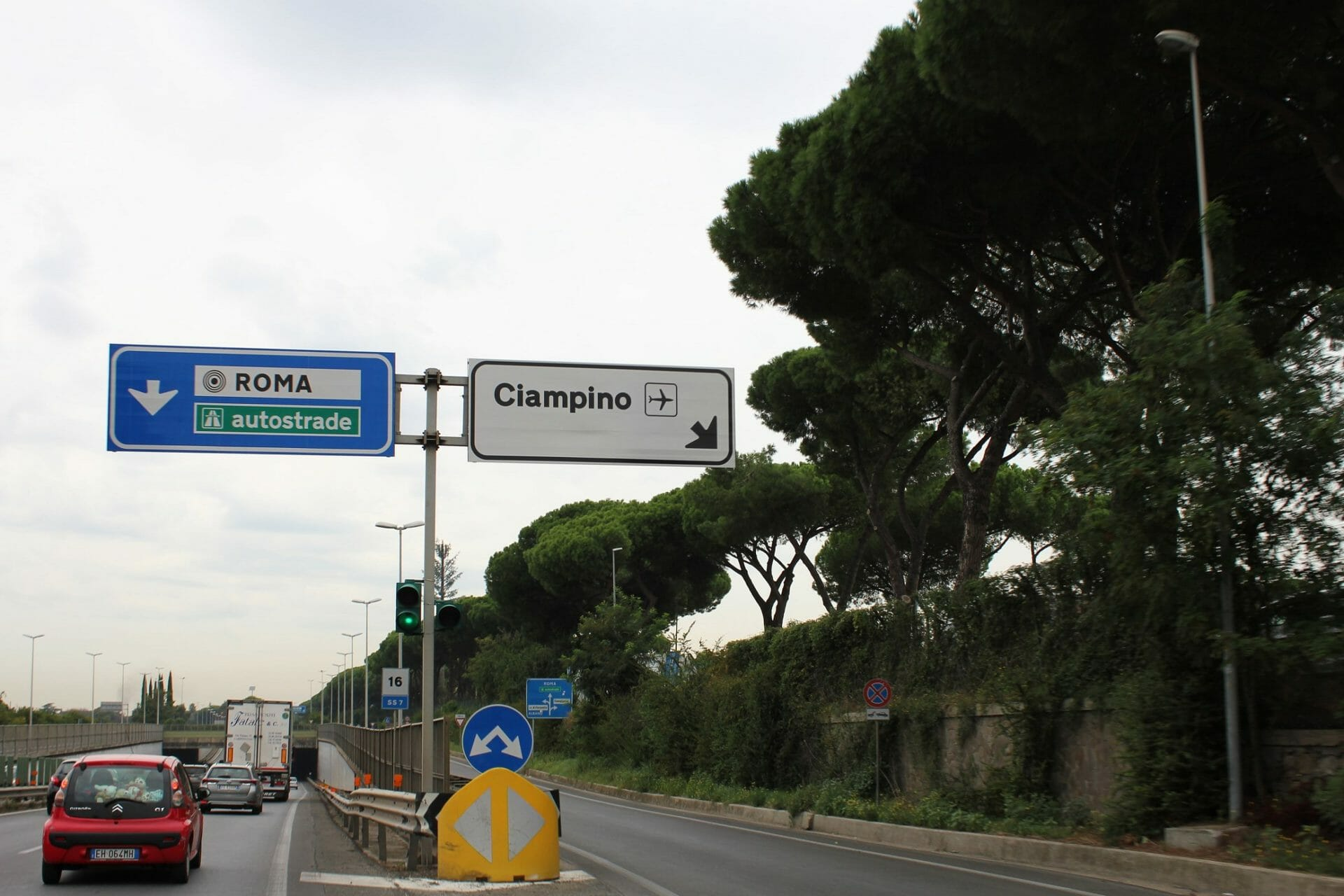 way to Ciampino Rome international airport