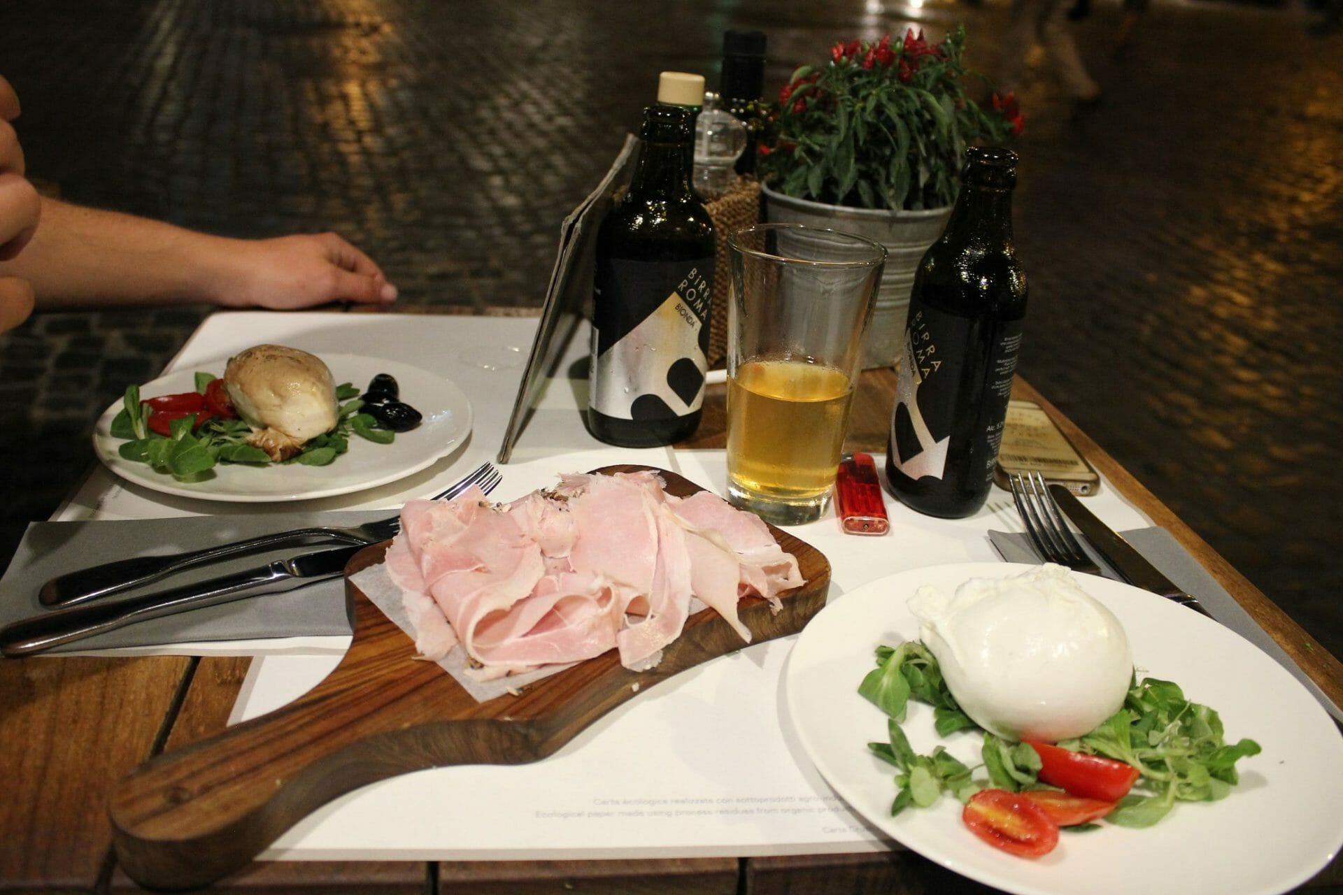 travel tips for rome Typical meal