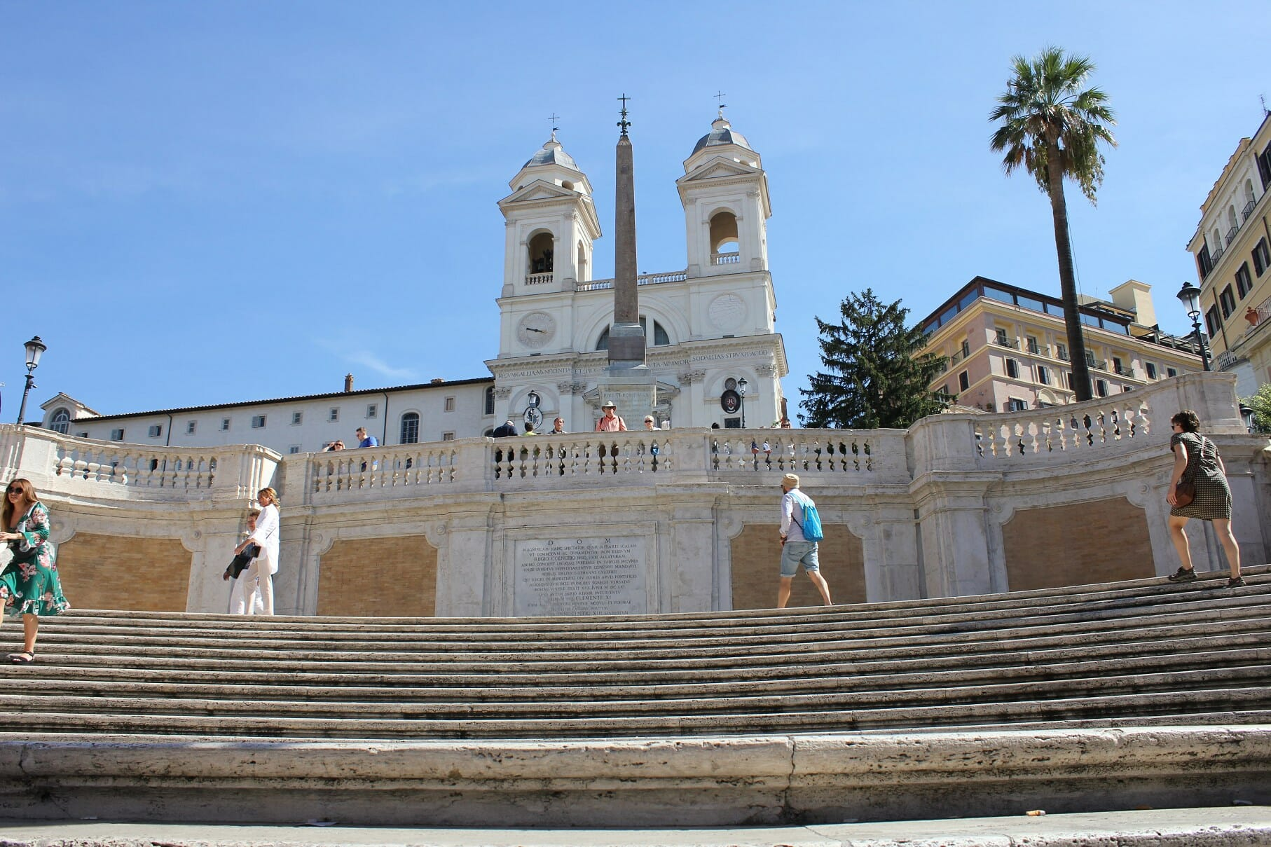 one week in rome Spanish steps