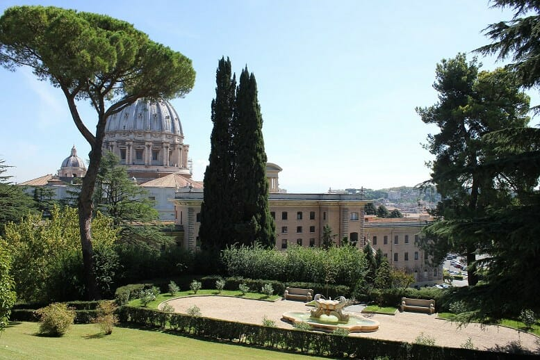 rome like a local Vatican Garden Basilica