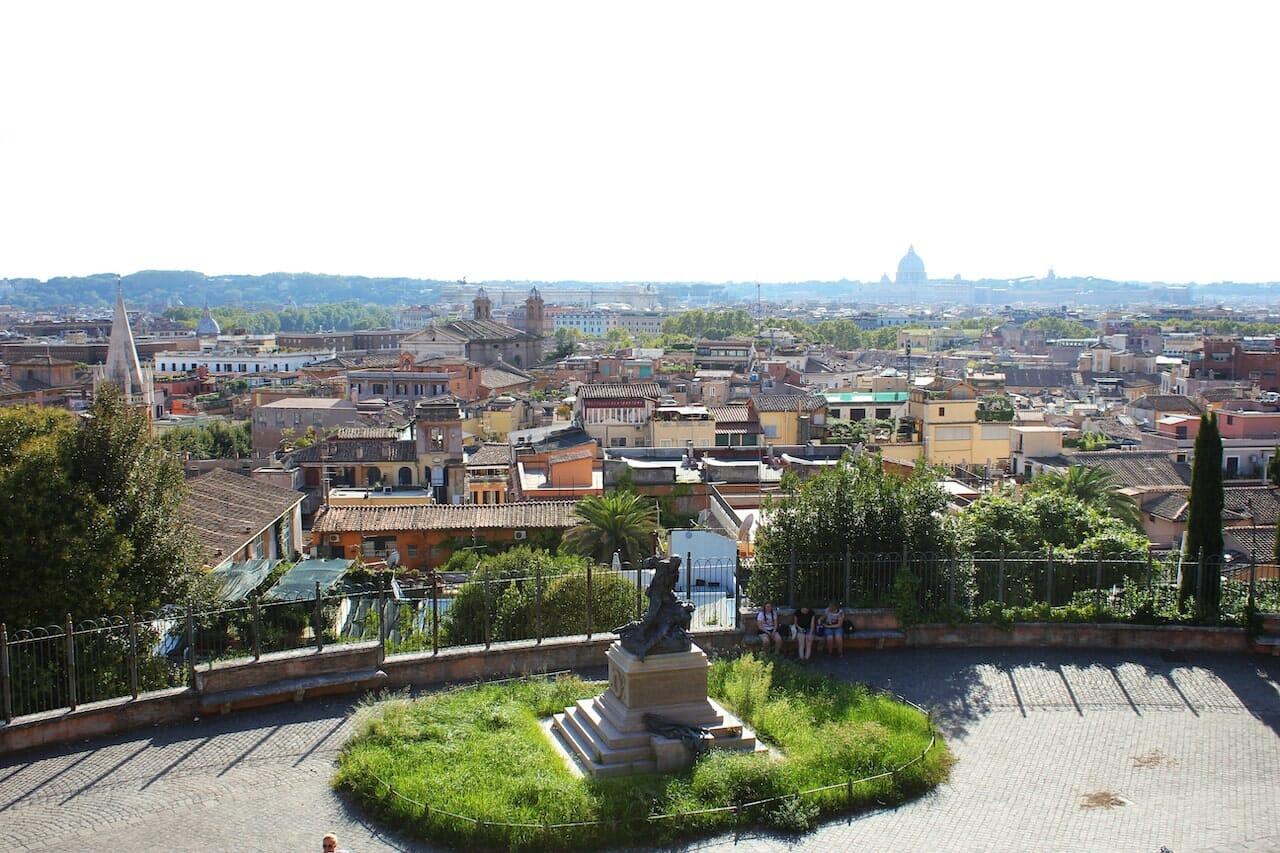 best views in rome pincio terrace