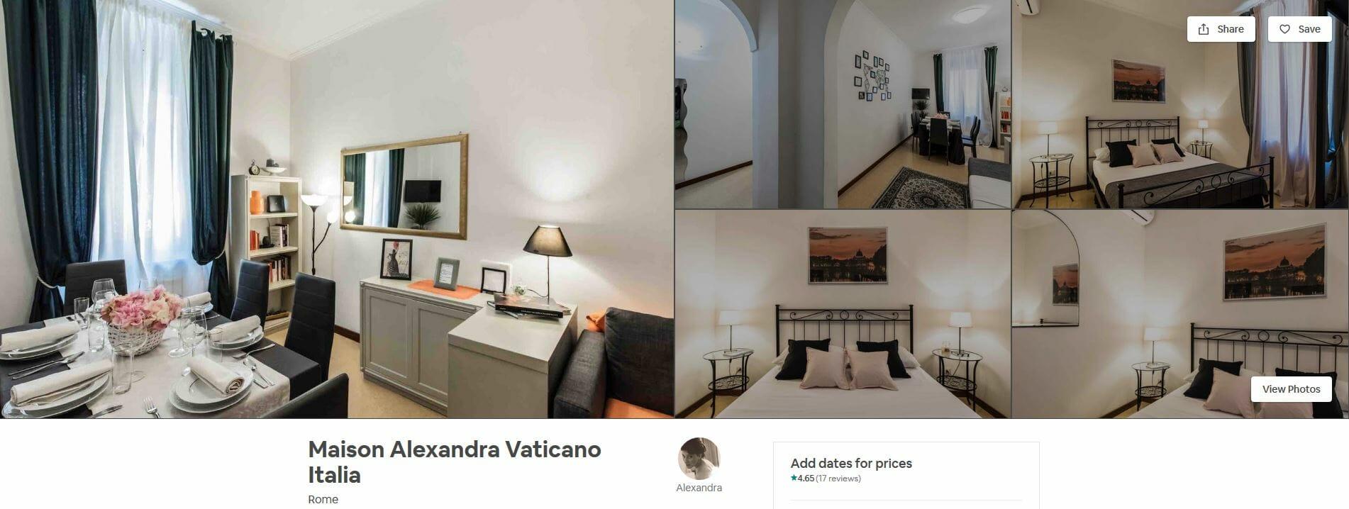 best airbnbs rome Maison Alexandra Vaticano