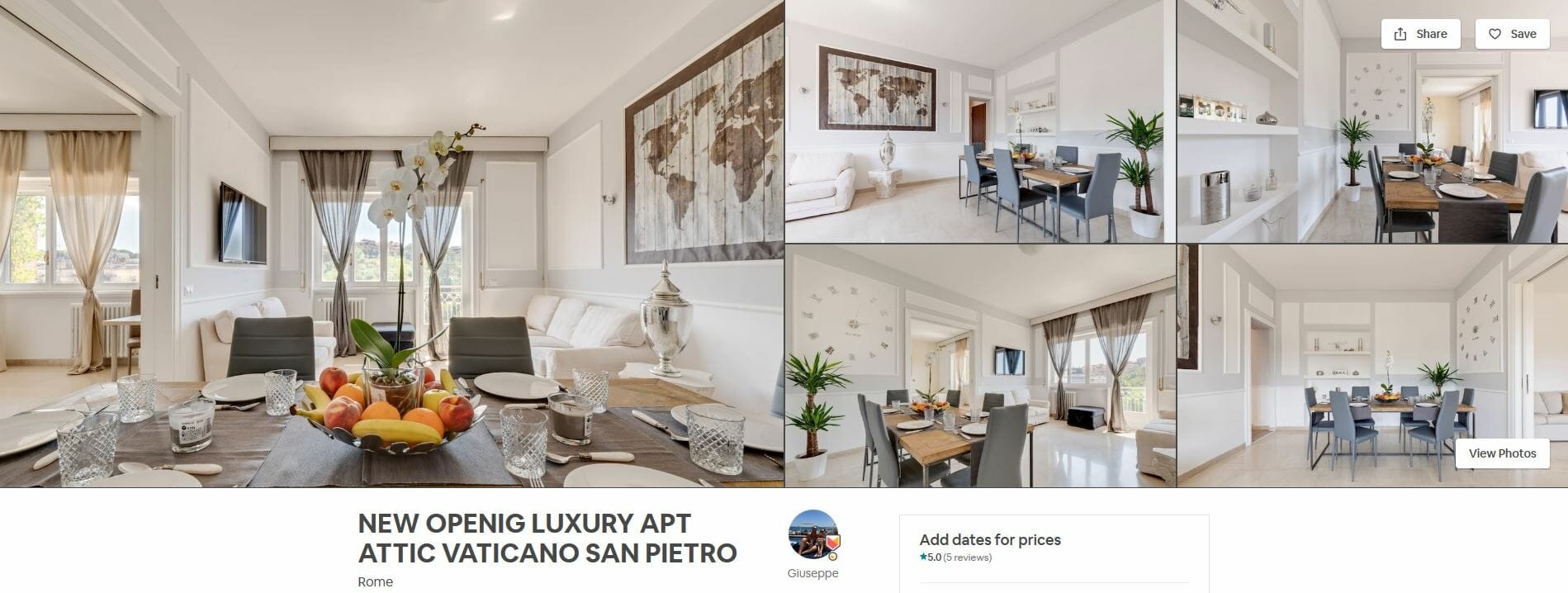 best airbnbs rome New Openig Luxury