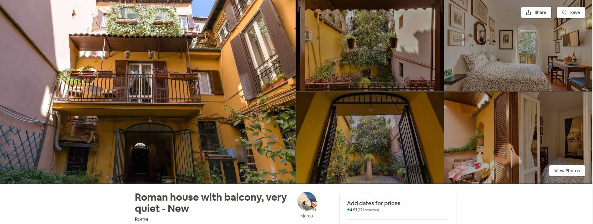 best airbnbs rome Roman House Wtih Balcony