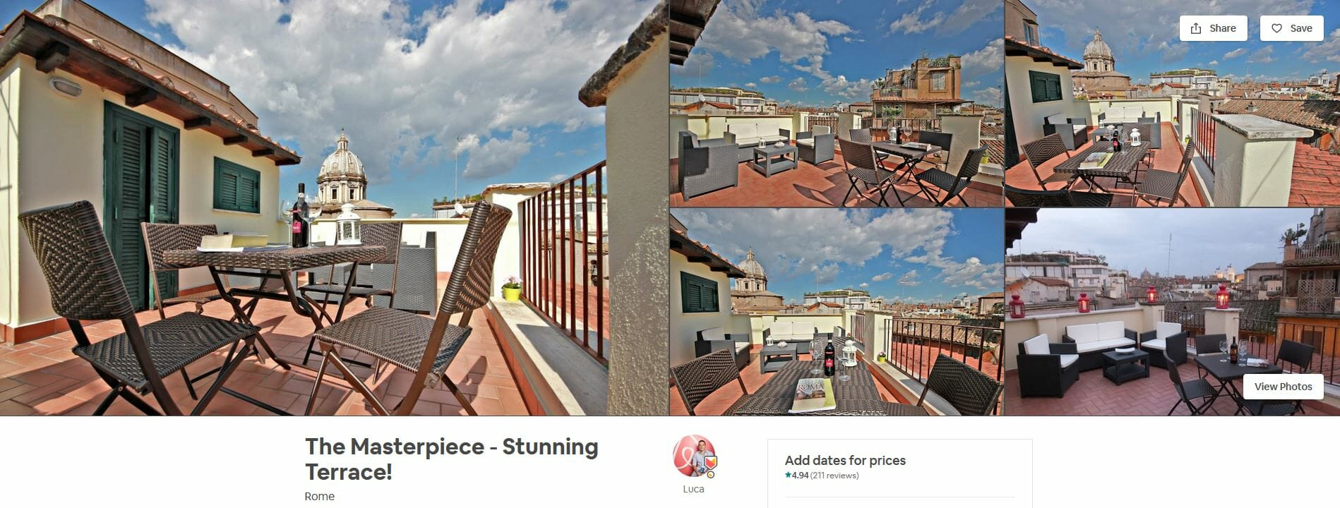 best airbnbs rome The Masterpiece