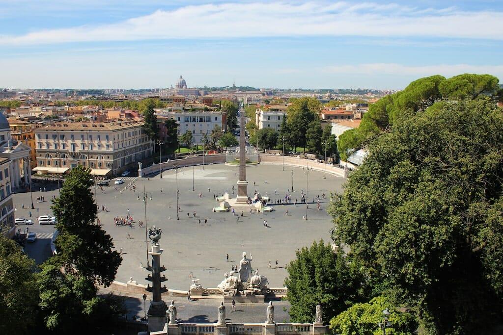 piazzas in rome Piazza Del Popolo