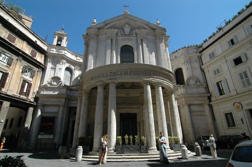trastevere rome Piazza Santa Di Maria