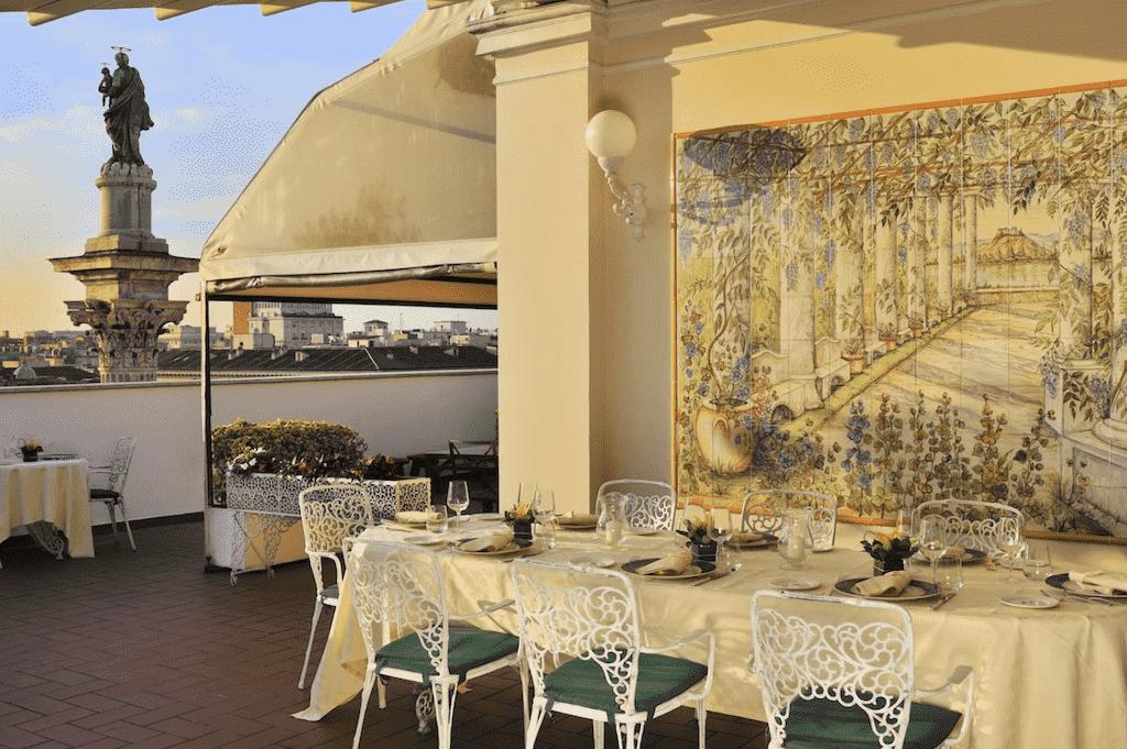 mecenate palace rooftop bar rome