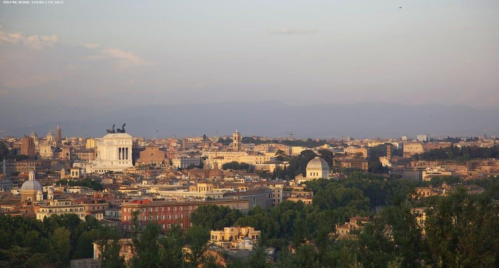 janiculum hill trastevere rome