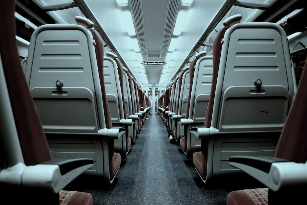 onboard train rome