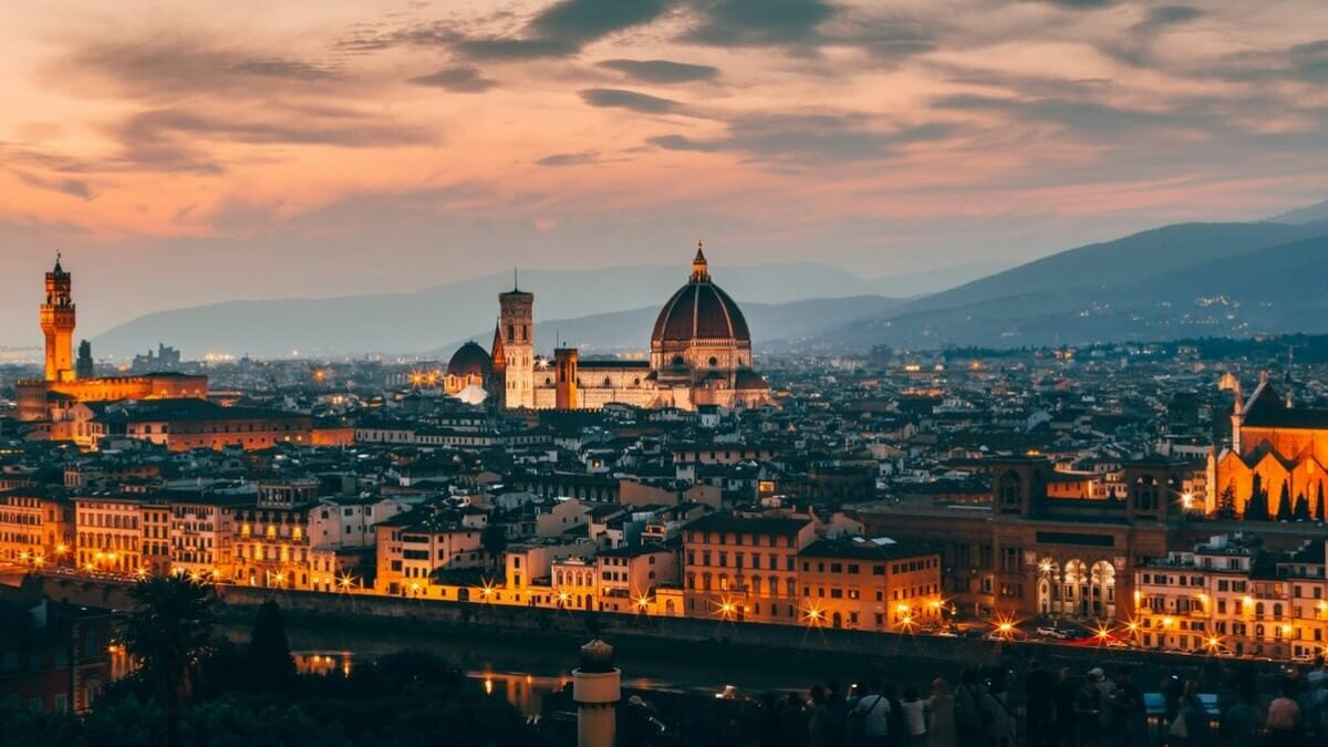 Aerial view Florence city