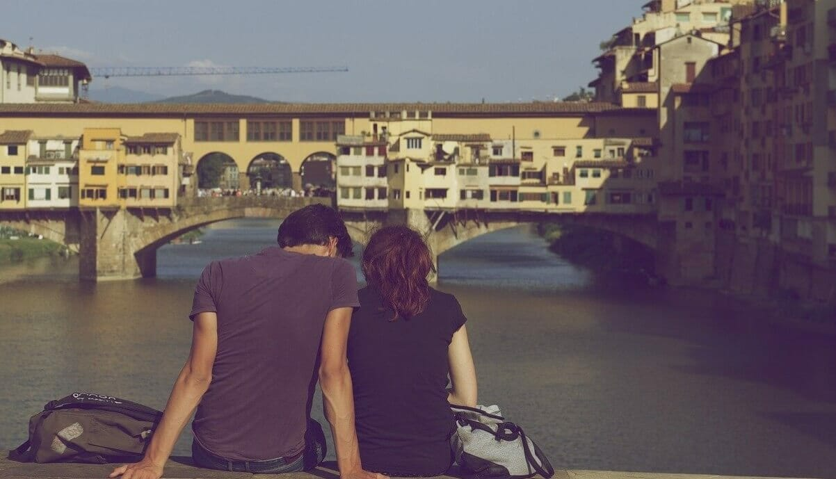 A couple in Florence