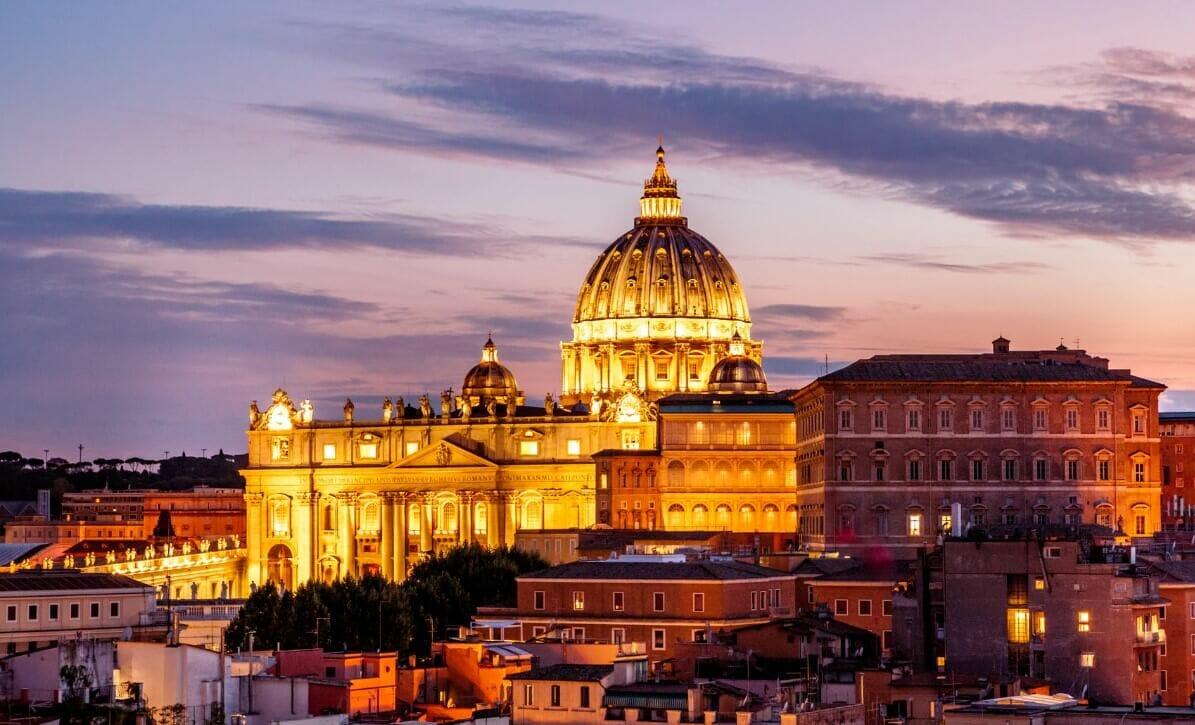 Italy Rome by night