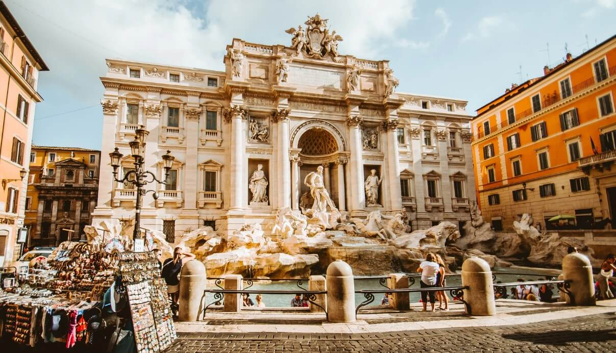 Visiting Trevi Fountain