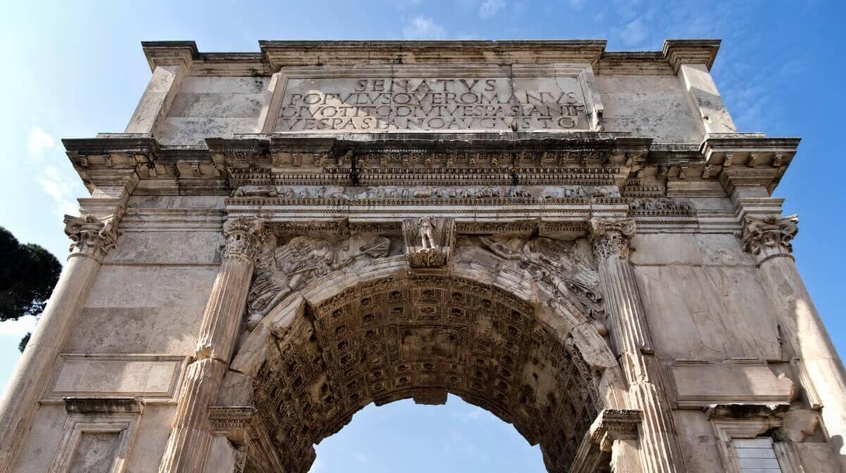 Arch of Titus landmark of Rome