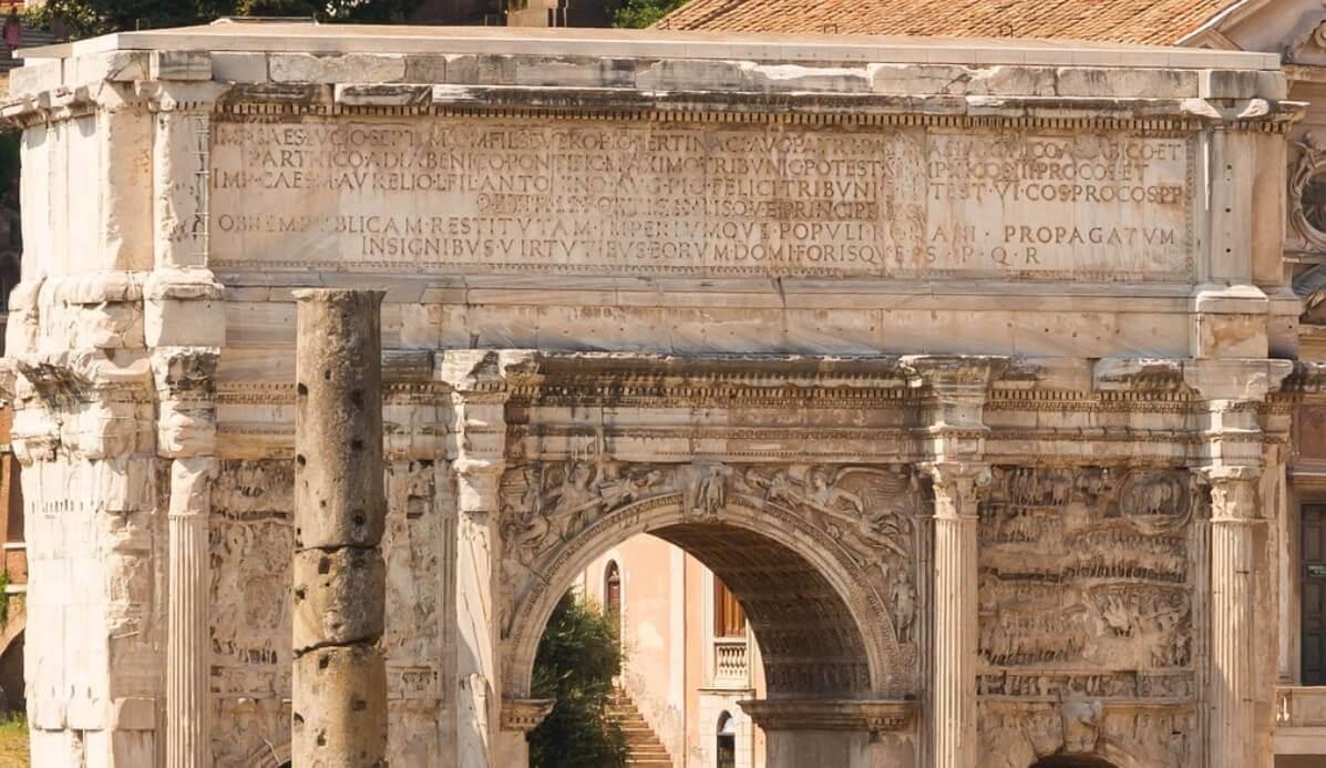 Ancient Rome monuments Septimus Severus arch