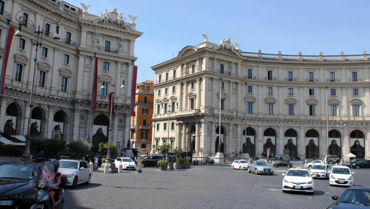 Piazza in Rome Summertime