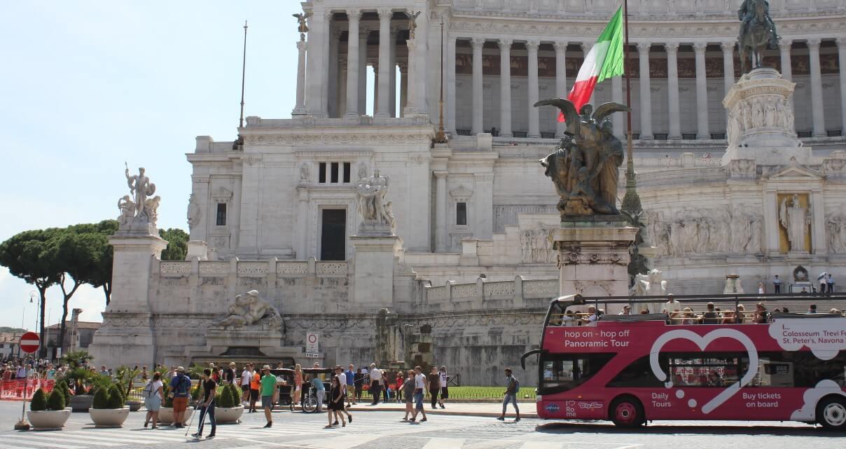 Rome city summertime