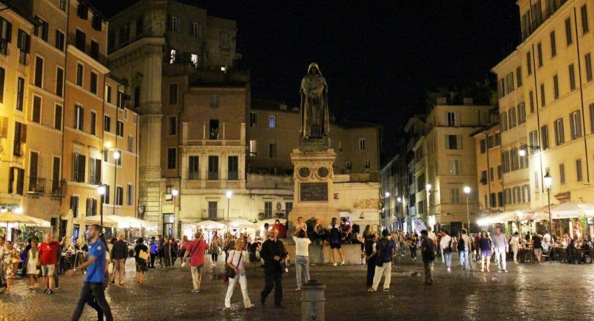 Italy Piazza at night